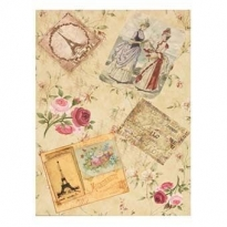 Model 67 -Rice Paper Decoupage