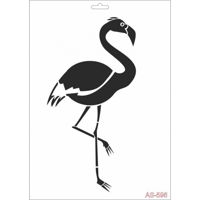 AS596 Flamingo - A4 Stencil