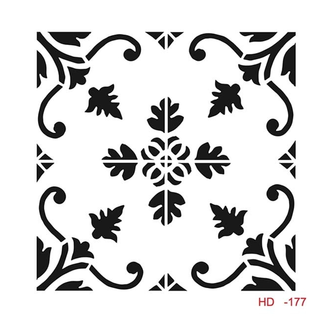 HD177 Home Dekor Stencil