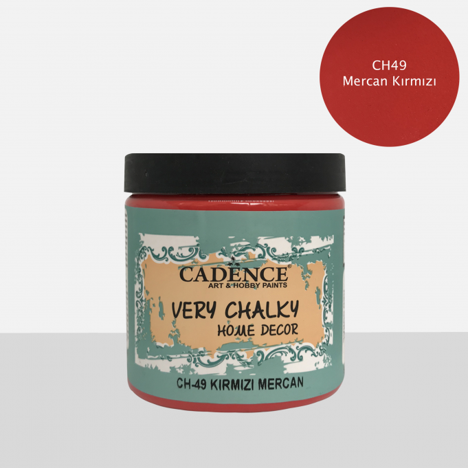 CH49 Mercan Kırmızı - Very Chalky Home Decor 500ml